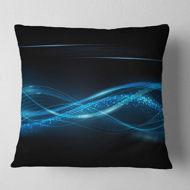 Designart CU6765-20-20-C Blue Abstract Vector Pattern Throw Pillow 20