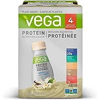 Vega Protein Nutrition Shake Vanilla (Pack of 4, 325ml Bottles) - Ready to Drink, Plant Based Protein Powder, Gluten Free, Non Dairy, Vegan, Non Soy, Non GMO