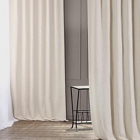 Hpd Half Price Drapes Boch Pl4201 108 Bellino Blackout Room Darkening Curtain 1 Panel 50 X 108 Oat Cream Home Kitchen