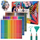 72 Professional Watercolour Pencils, Colored Art Drawing Pencils Numbered Soluble, Unique and Different - Ideal for Coloring, Blending and Layering, Watercolor Techniques