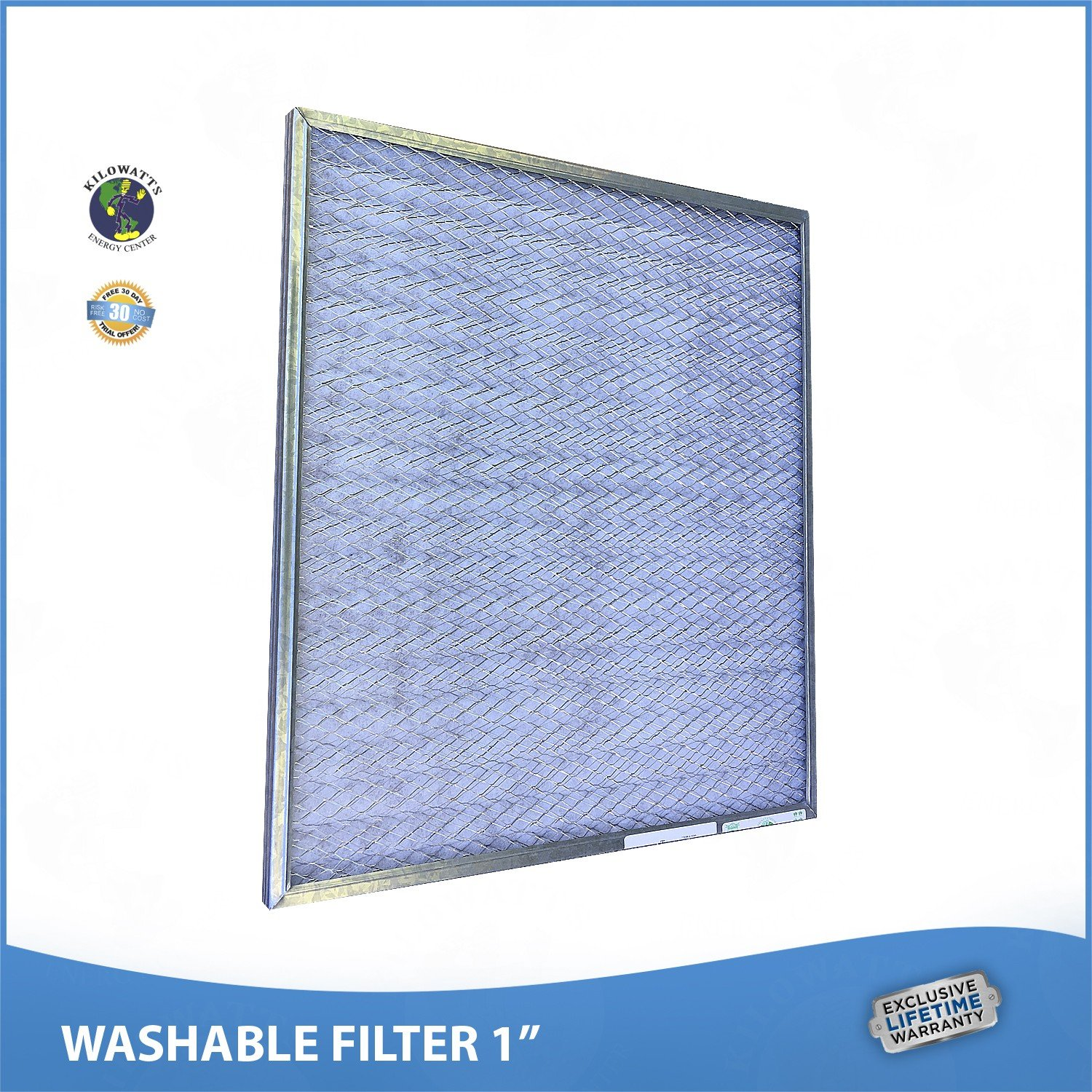 17x22x1 Washable Permanent A/C Furnace Air Filter. Low Air Resistance by Kilowatts Energy Center (Image #2)