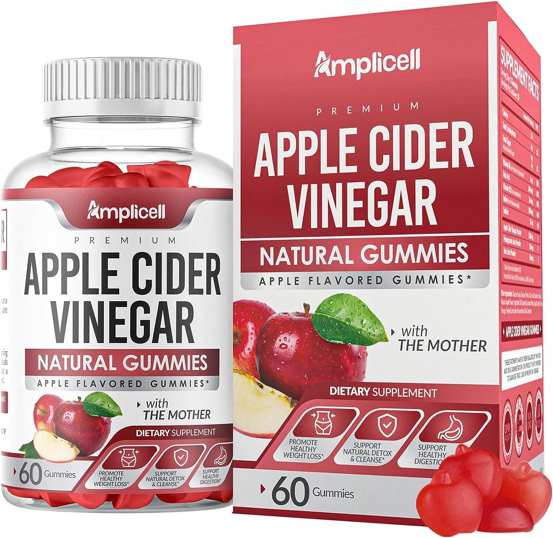 Apple Cider Vinegar Gummies - 60 Apple Cider Gummies for Immunity & Detox - Apple Cider Vinegar with Mother Enzyme - ACV Gummies with Pomegranate & Beetroot - Alternative to Pure Apple Cider Vinegar