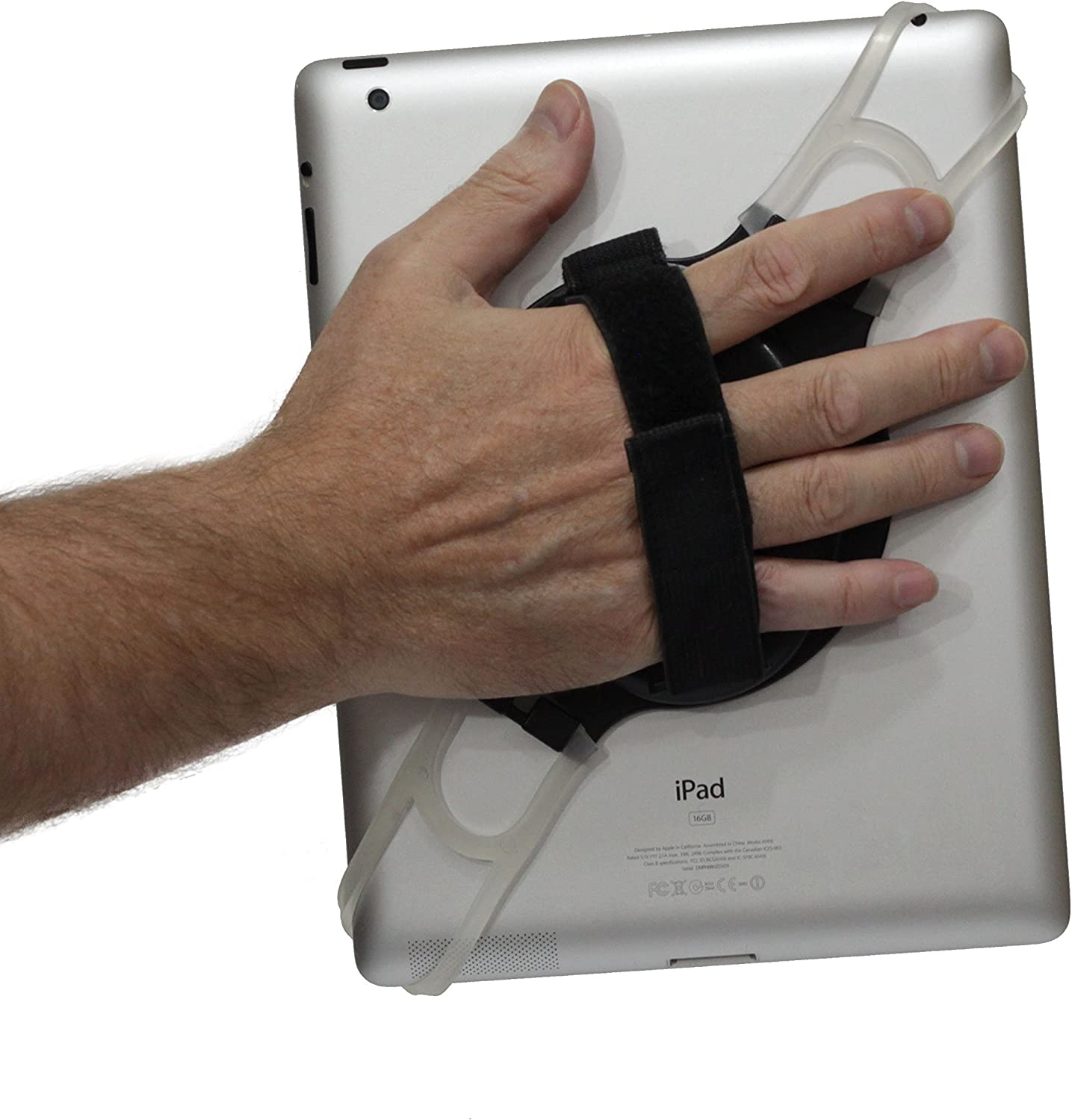LapWorks Tablet Handler with Adjustable Hand Strap for All 10 inch iPads, iPad Mini and Tablets up to 10.1 inch Including Samsung, Asus, Acer, Google, Lenovo, Kindle and Nook