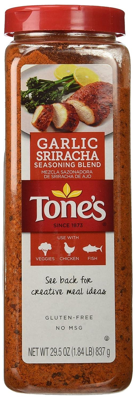 Tone's Garlic Sriracha Seasoning Blend 29.5 Oz Each (2 Pack)
