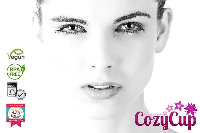 Copa menstrual CozyCup SUNNY - Hecho de Silicona de Grado Médico (lila, grande): Amazon.es: Salud y cuidado personal