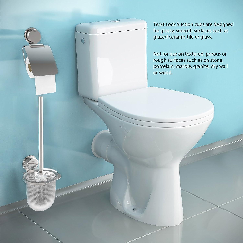 Amazon.com: Lavish Home Wall Mounted Toilet Bowl Cleaner Scrub Brush ...