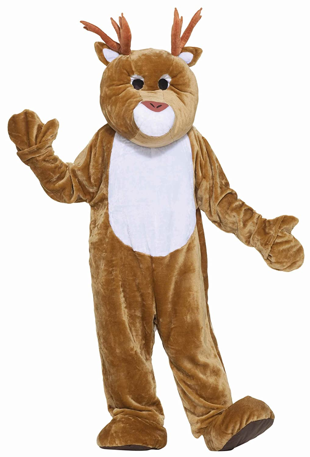 Amazon.com Forum Deluxe Plush Reindeer Mascot Costume Brown One Size Clothing  sc 1 st  Amazon.com & Amazon.com: Forum Deluxe Plush Reindeer Mascot Costume Brown One ...