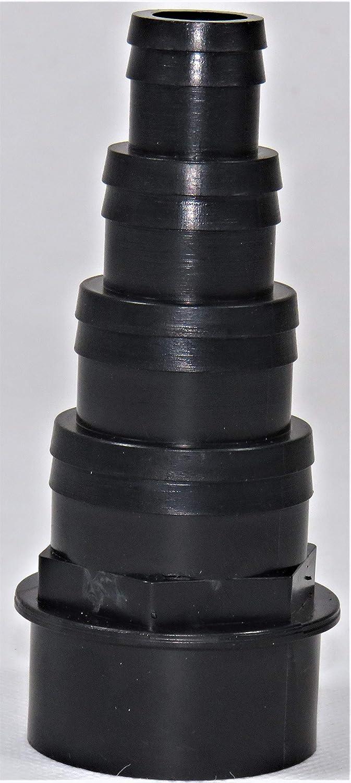 koi fish pond pump filter tank pipe fitting 1.5//43mm 4 Stepped Black HoseTail