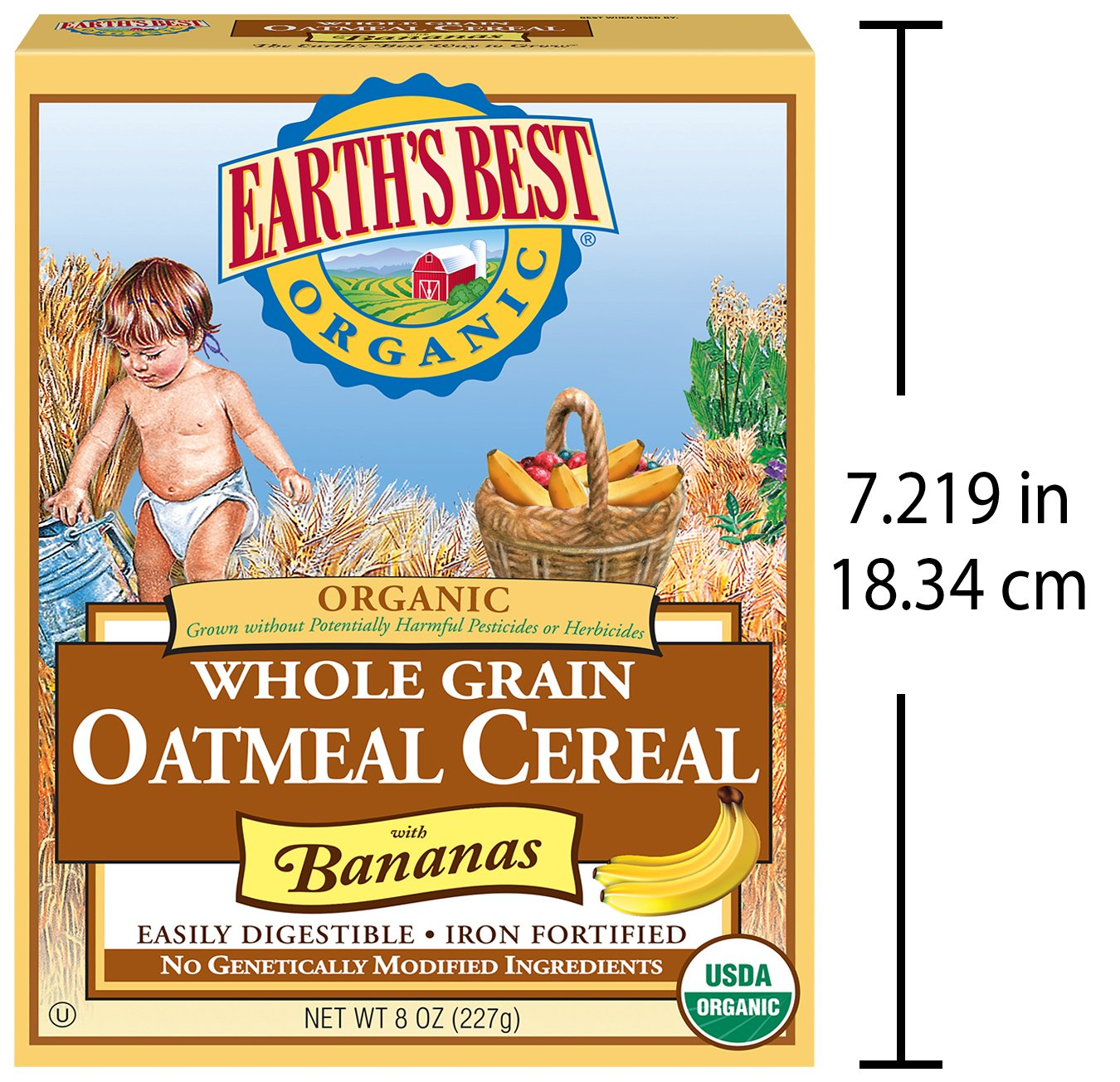 Earth's Best Organic Infant Cereal, Whole Grain Oatmeal with Bananas, 8 oz. Box by Earth's Best (Image #6)