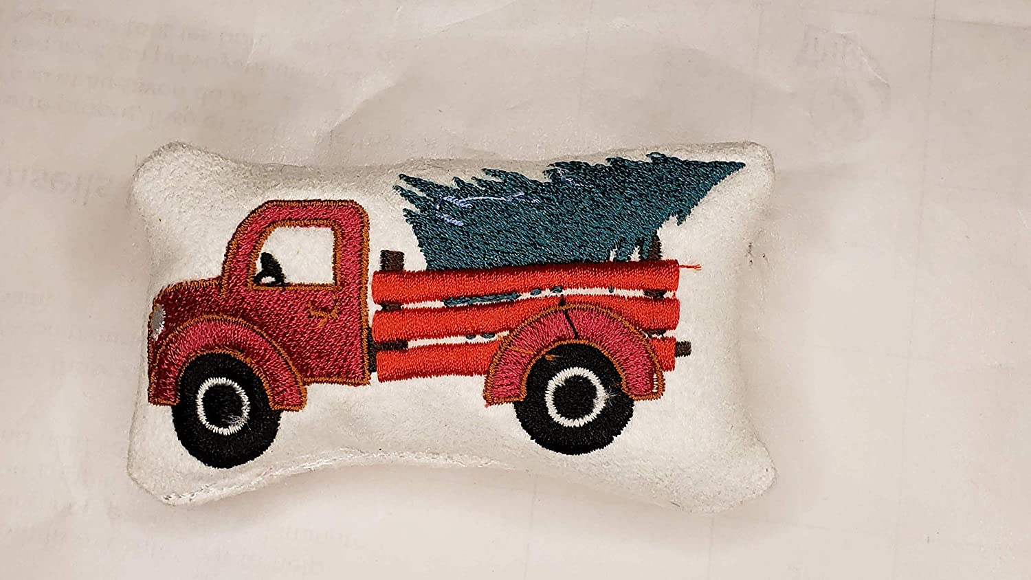 Red Truck Throw Pillow Scale of 1//6