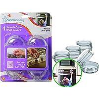Dreambaby Cubiertas de seguridad para las perillas de cocinas y hornos - (Pack de 4, Transparentes)