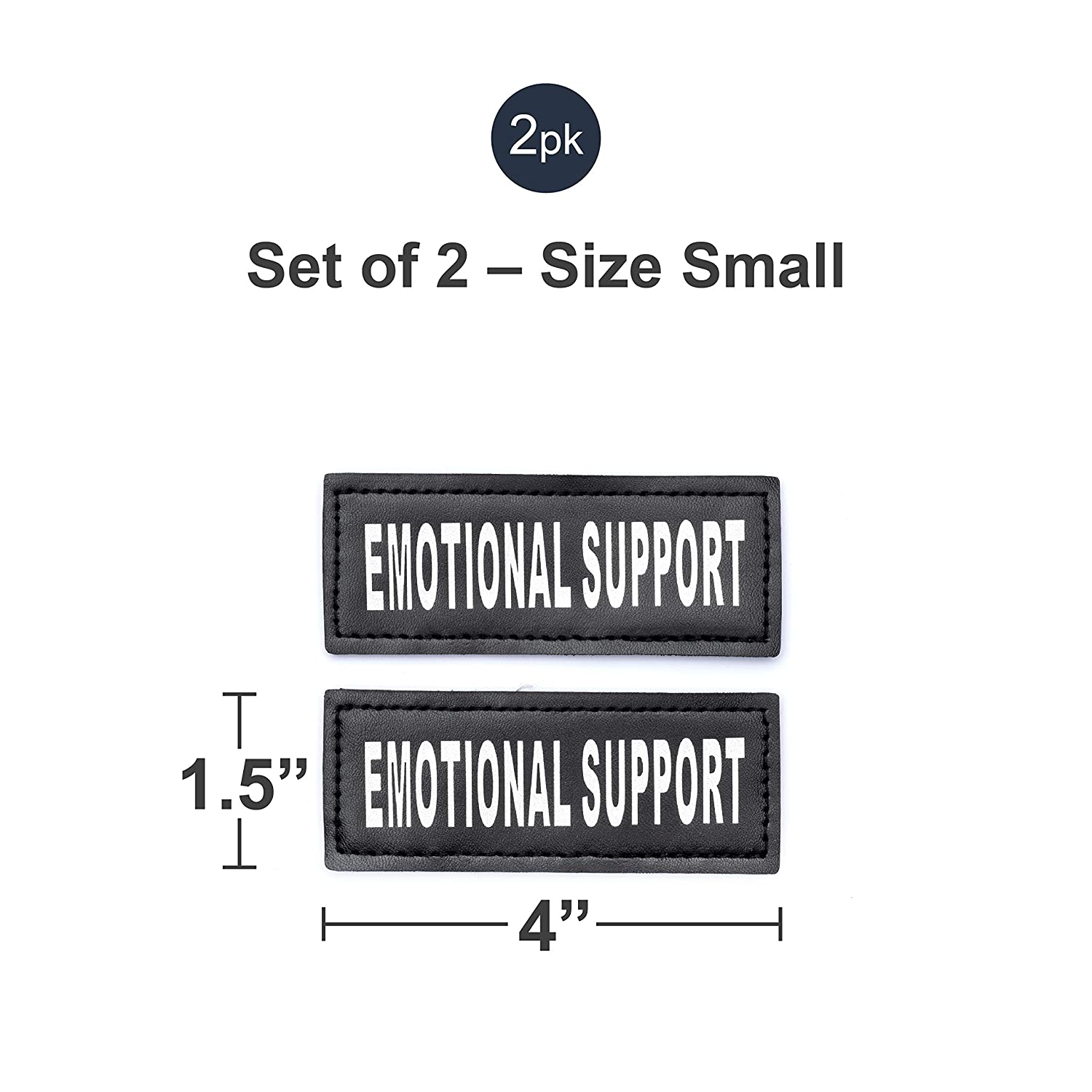 Emotional Support Service Dog In Training and Therapy Dog Patches by Industrial Puppy Hook and Loop Patches for Harness Service Dog In Training