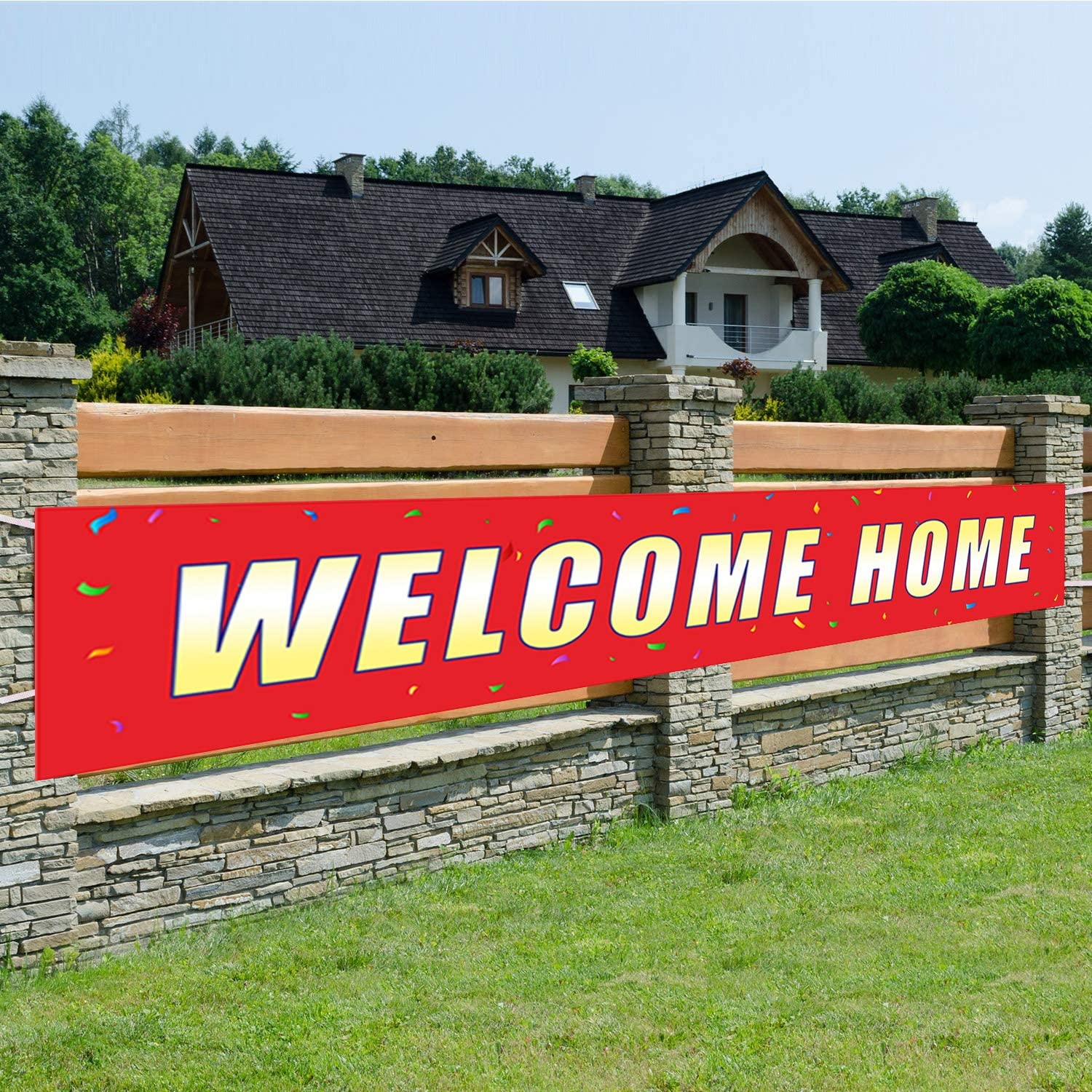Welcome Home Banner,Back Home Welcome Sign,Extra Large Homecoming Party Decorations(Welcome Home)