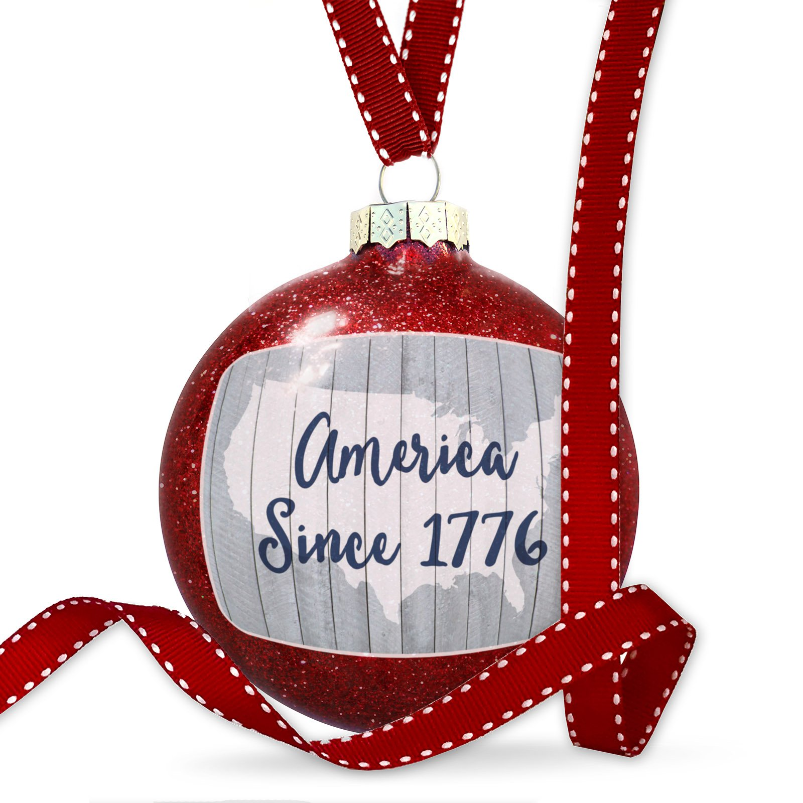 Christmas Decoration America Since 1776 Fourth of July USA Ornament