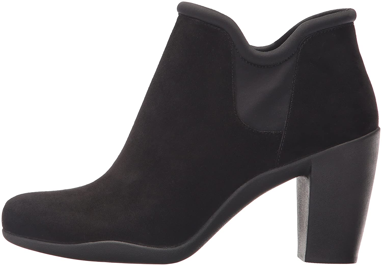 CLARKS Women's Adya Bella W Ankle Bootie B01MR8BS1O 6 W Bella US|Black Suede ac39c3