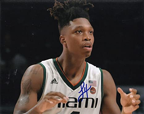 LONNIE WALKER signed (MIAMI HURRICANES) basketball 8X10 photo  PROOF ... 5953f1908