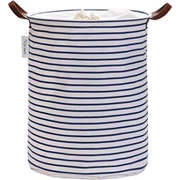 Amazon Com Birdrock Home Round Cloth Laundry Hamper With Handles Dirty Clothes