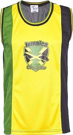 Chaleco Rasta y Jamaica de malla para hombre.: Amazon.es: Ropa ...