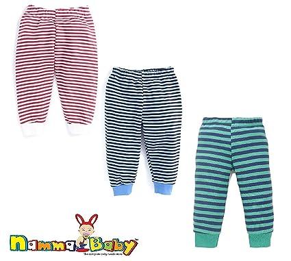 68383dd88 NammaBaby Baby Rib Pajama Pant Stripes Pant - Stripes Pajama for ...