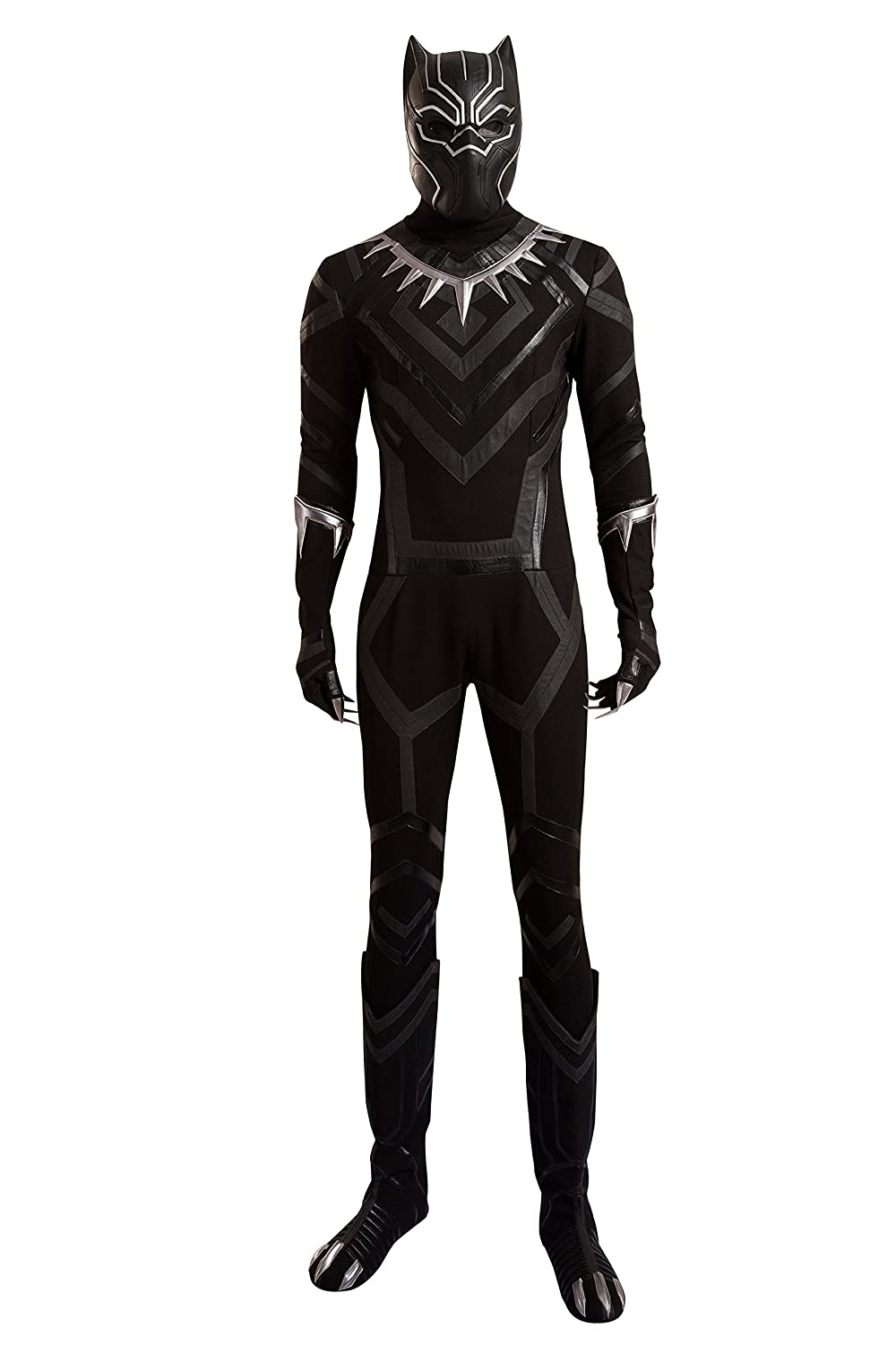 Cosfunmax Black Panther Cosplay Costume Suit Hot Movie Outfit Costume