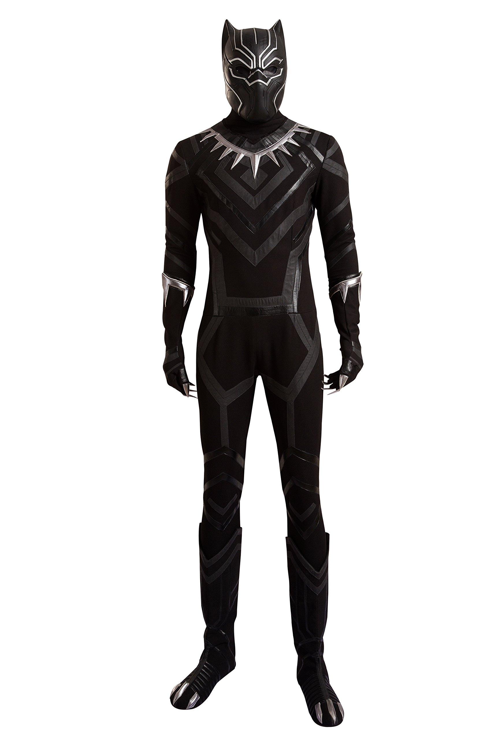 Cosfunmax Black Panther Cosplay Costume Suit Hot Movie Outfit Costume Accessory Halloween Male XXL