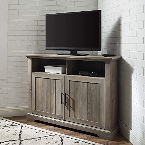 Walker Edison Flat Screen Universal TV Console Living Room Shelves Entertainment Center