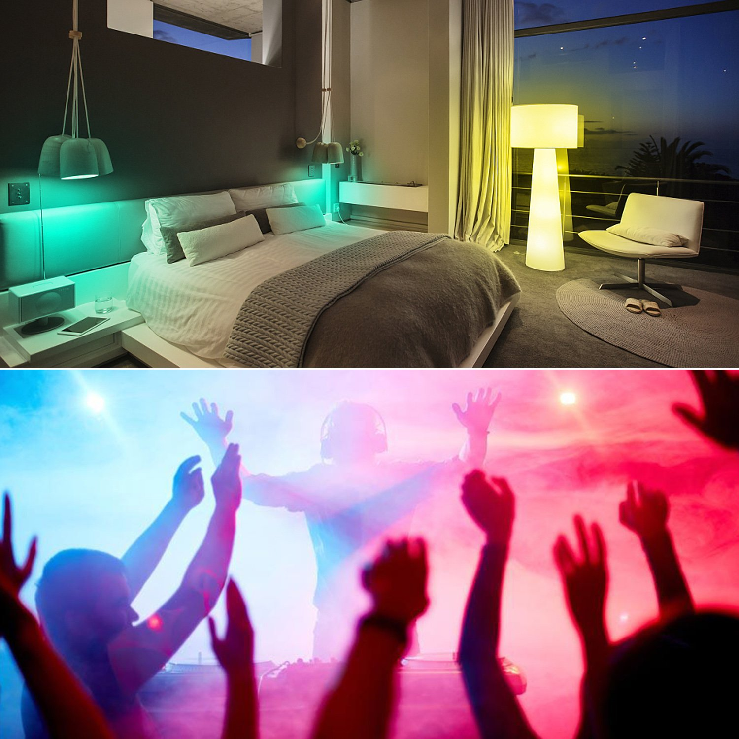 Pack of 4 3W Edison Screw RGBW Bulb,12 Colors Changing with IR Remote Control,Disco Party Home Mood Ambiance Lighting NetBoat Colour Changing Lights,RGB Daylight White E27 Coloured Light Bulbs