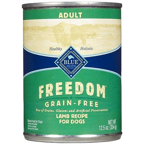 Blue Buffalo Blue Freedom Dog Lamb Dinner Food, 12 by 12 oz.
