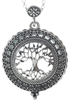 Amazon tree of life magnifier magnifying glass sliding top tree of life 4x magnifier magnifying glass sliding top magnet pendant necklace 30 mozeypictures Image collections