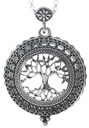 Amazon tree of life 4x magnifier magnifying glass sliding top amazon tree of life 4x magnifier magnifying glass sliding top magnet pendant necklace 30 jewelry aloadofball Image collections