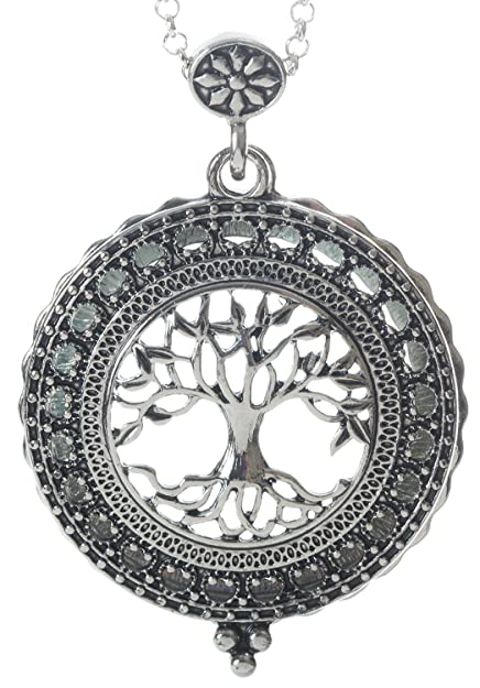 Amazon tree of life 4x magnifier magnifying glass sliding top tree of life 4x magnifier magnifying glass sliding top magnet pendant necklace 30quot aloadofball Choice Image