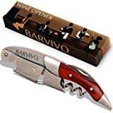 Professional Waiters Corkscrew by Barvivo - This Bottle Opener for Beer and Wine Bottles is Used by Waiters, Sommelier…