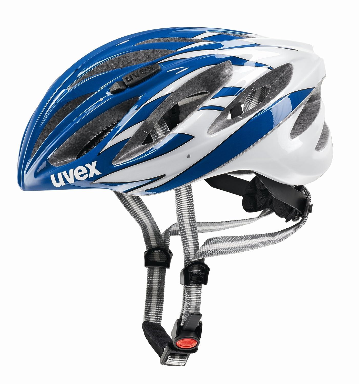 UvexユニセックスBoss Raceロードバイクヘルメットブルー&ホワイトM (52 – 56 cm)   B007QS606C