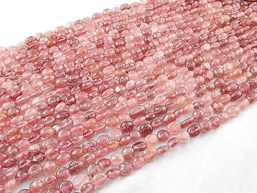 DIY 7-10mm Abalorio Cuenta Mostacilla o Chaquira De Piedra Semipreciosa Llano Guijarro//Nugget Ruby Zoisite Ruby Zoisite, Pebble Bead Cerca de los 40cm un Tira. Genuino Naturales Beads Ok