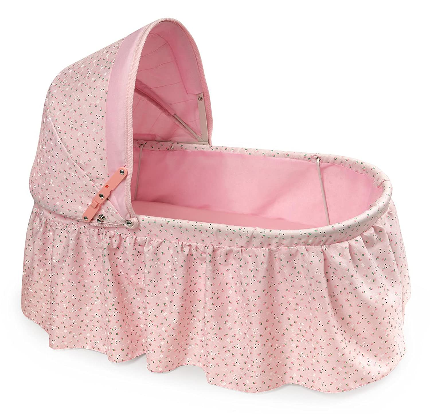 B001AMXZMM Badger Basket Folding Doll Cradle with Rosebud Fabric (fits American Girl Dolls) 813lrsLBF-L