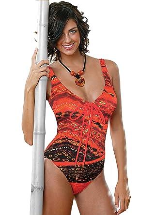 4f33d3c493c Mangos and Papayas Lace up Slimsuit (Tm) (14) at Amazon Women's ...