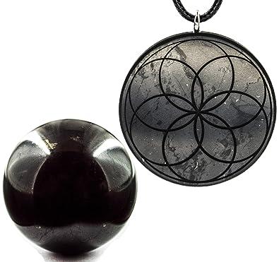 Amazon com: Wallystone Gems Shungite Sphere Polished 30 MM