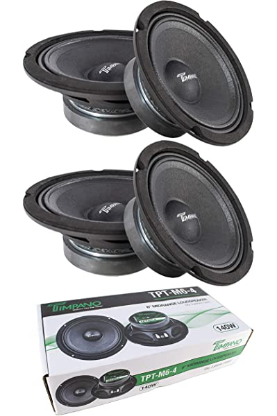 Pair 520W Peak Timpano TPT-MD8 Full Range Mid Bass Loud Speaker 8 8 Ohm 2