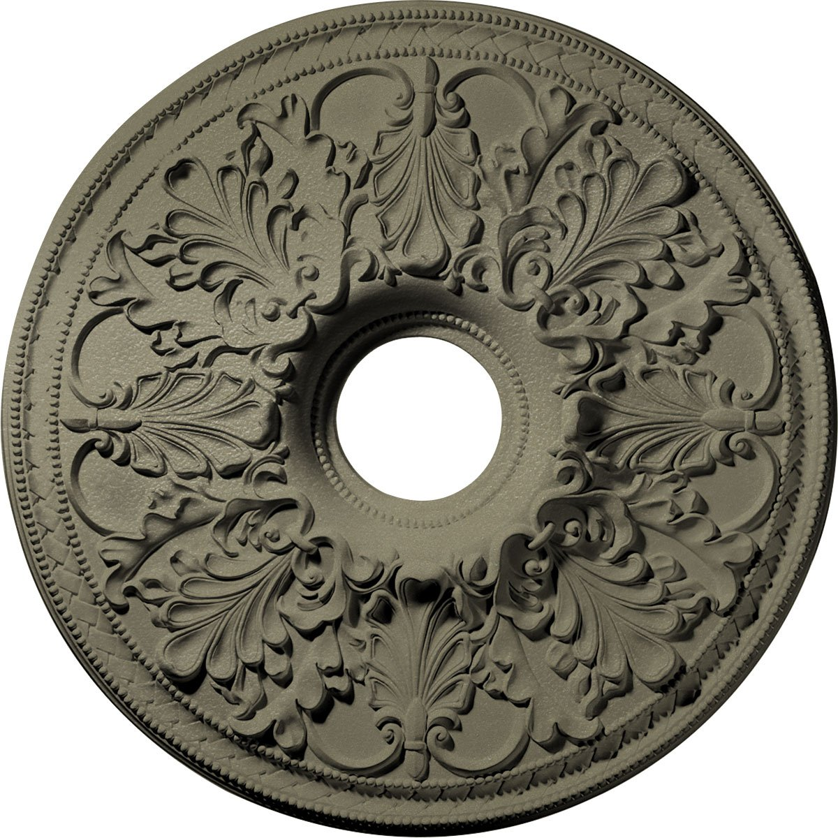Ekena Millwork CM23ASSSF Ashley Ceiling Medallion, 23-7/8'' x 4'' x 2-1/8'', Spartan Stone