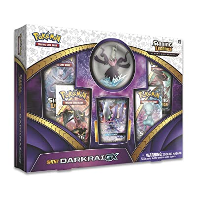 Pokemon 820650803703 Shining Legends Figure Collection—Shiny Darkrai-GX, Multicolor, Features 4 Booster Packs, 1 Ultra Rare Shiny Darkrai-GX Foil Card, 1 Sculpted Figure & More: Toys & Games