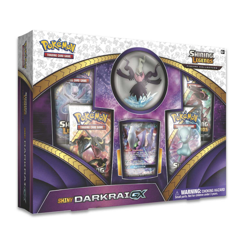 Pokemon 820650803703 Shining Legends Figure Collection—Shiny Darkrai-GX, Multicolor, Features 4 Booster Packs, 1 Ultra Rare Shiny Darkrai-GX Foil Card, 1 Sculpted Figure & More