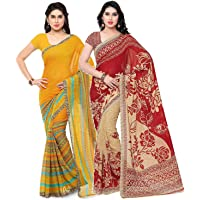 Kashvi saree Women's Saree With Blouse Piece - Pack of 2