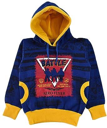 baacc5e40 Come in Kids Girls Hooded Winter Wear Printed Sweatshirt  Amazon.in ...