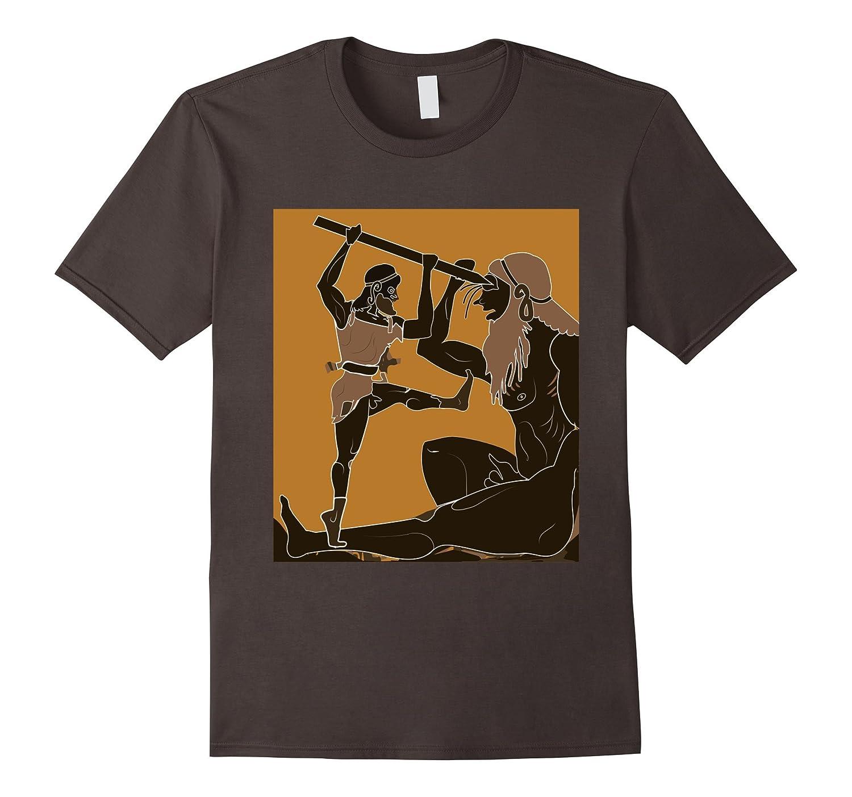 Cyclops and Odysseus T-Shirt Greek Mythology Ancient Greece-TH