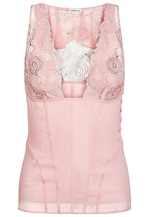 aa3fbf6eb8 La Perla Elements Powder Pink Silk Georgette Pyjama Top with Lurex ...