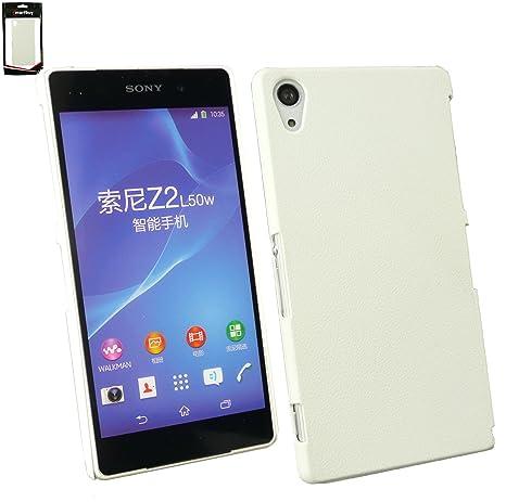 Emartbuy® Sony Xperia Z2 Blanco Efecto Cuero del Clip Super ...