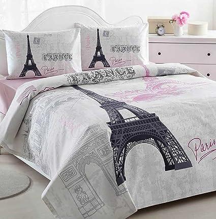 Amazon Paris Eiffel Tower Pink Lightweight Summer Comforter