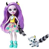 Enchantimals - Muñeca Larissa Lemur con Mascota Ringlet
