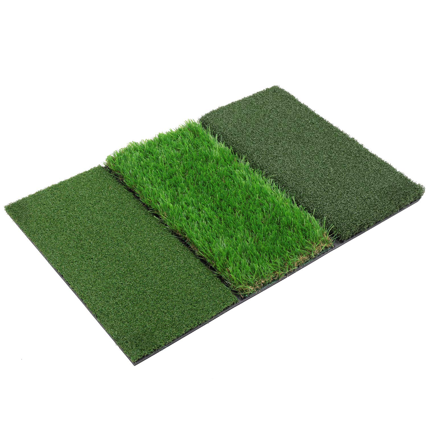 SkyLife Tri-Turf Dual-Turf Golf Hitting Mat, Driving Chipping Putting Training Aids for Backyard Home Garage Outdoor Practice with TEEs