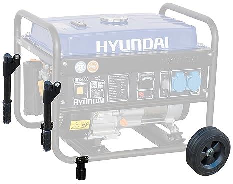 Hyundai - Kit con ruedas para transportar el motogenerador Hyundai Hy3000 (Código Brico 872939)
